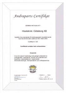 Certifikat 2013